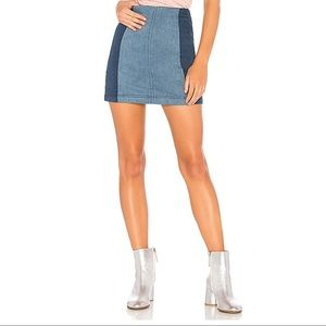 Free People Modern Femme Color Block Mini Skirt,4